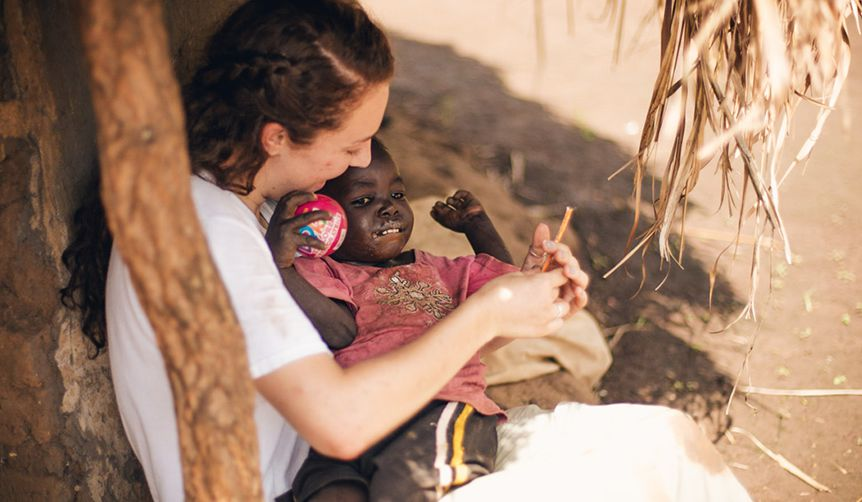 savannah with kid
